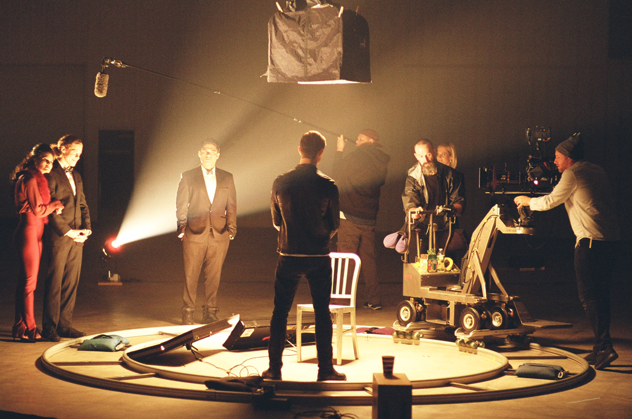 On the set of  Spy Intervention , filming the 'intervention' scene
