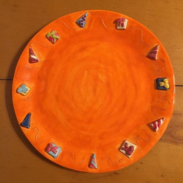 #autumn #celebration #plate #orange #birthdays #fall #celebrate #color #art #ceramics #colour