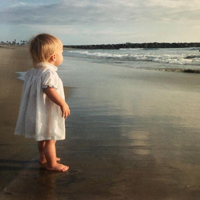 My #sweet #daughter @arianalongley #circa #1990 #newportbeach #beach #ocean #love #blue