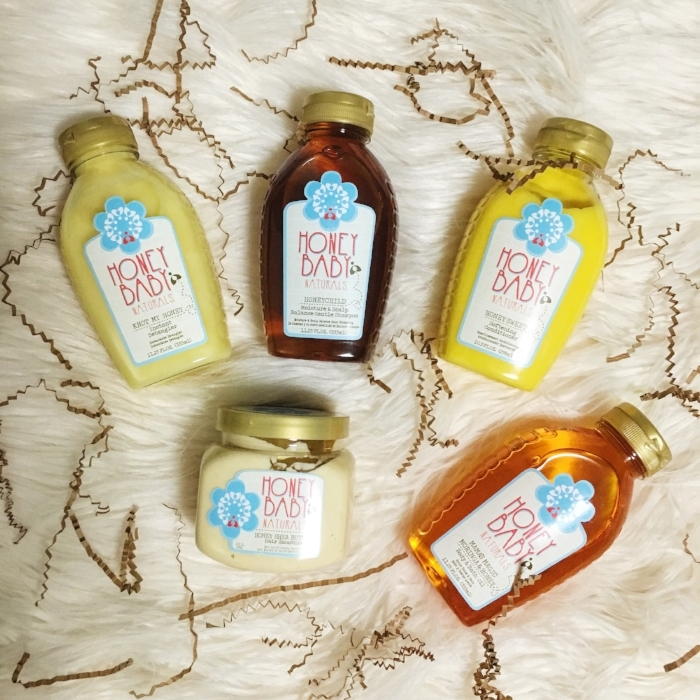 Products are courtesy of Honey Baby Naturals