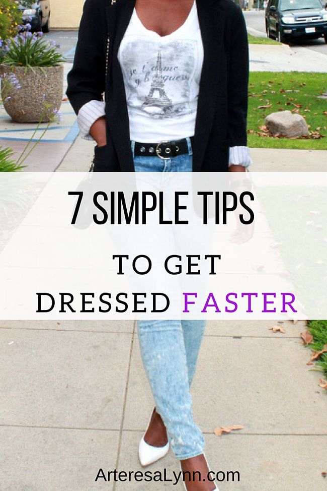 7 Tips to Get Dressed Faster In The Morning