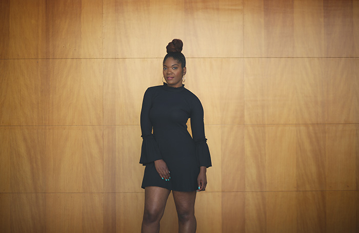 topshop statement sleeve dress