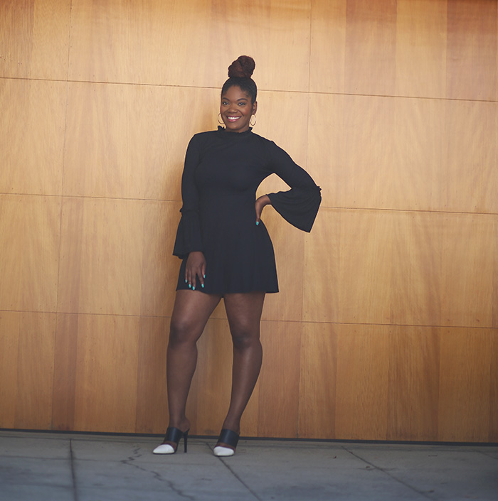 statement sleeve dress, retro look, retro outfit, retro style