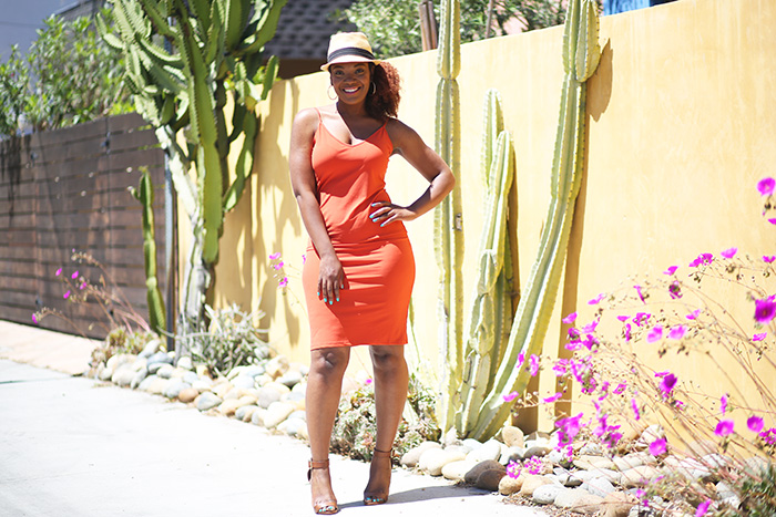 summer dress and fedora hat outfit