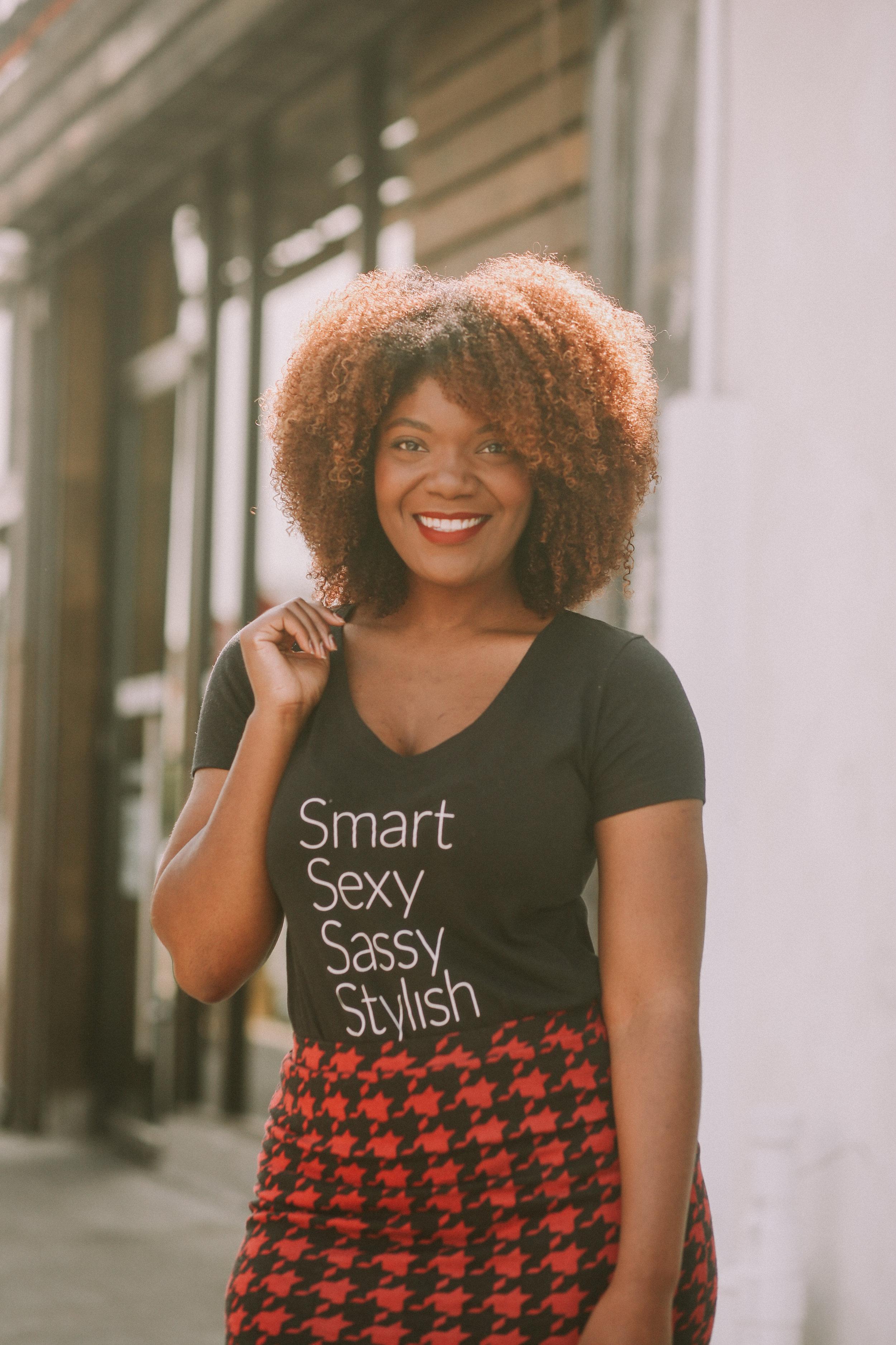 Smart, Sexy, Sassy, Stylish Slogan Tee by Arteresa Lynn