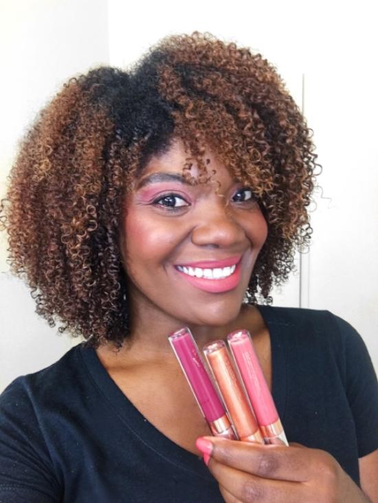KARRUECHE X COLOURPOP Fem Rosa Lip Swatches On Dark Skin