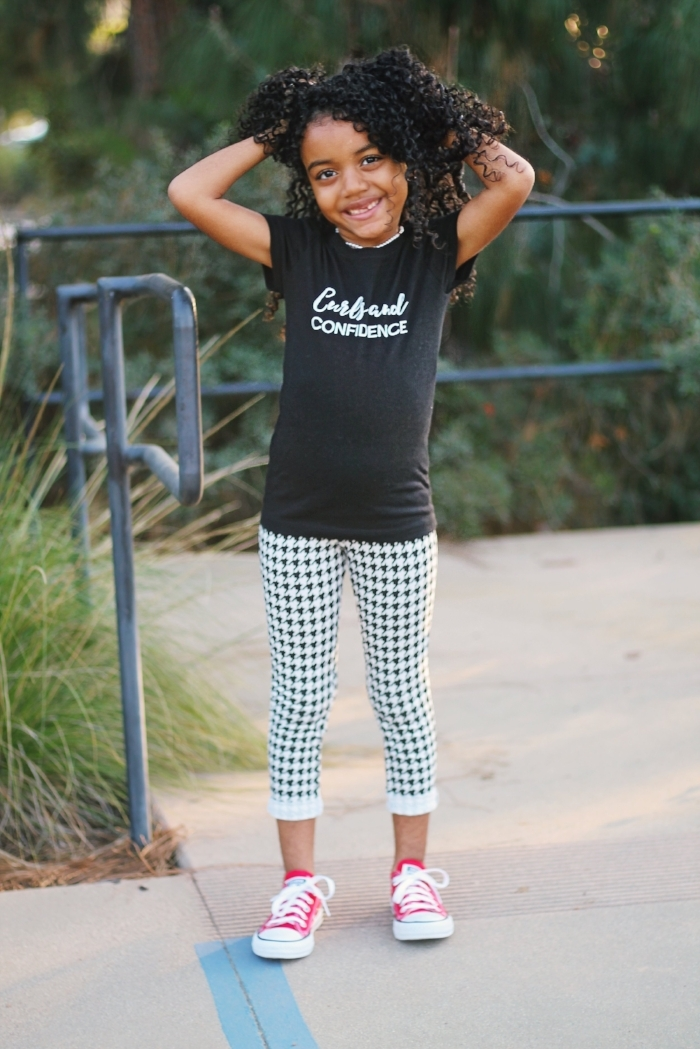 Curls and Confidence tee for girls, Natural hair tees for kids