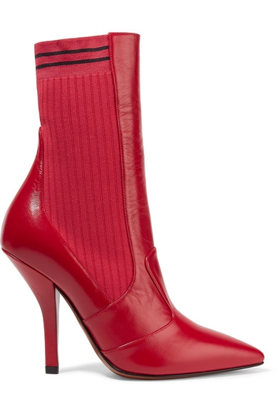 Shoegasm Tuesday: Fendi Rockoko Red Knit and Leather Sock Boot