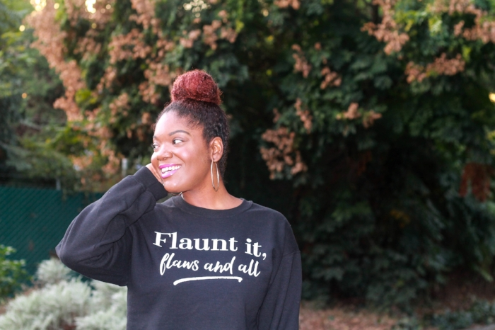 Flaunt It, Flaws And All self love sweatshirt