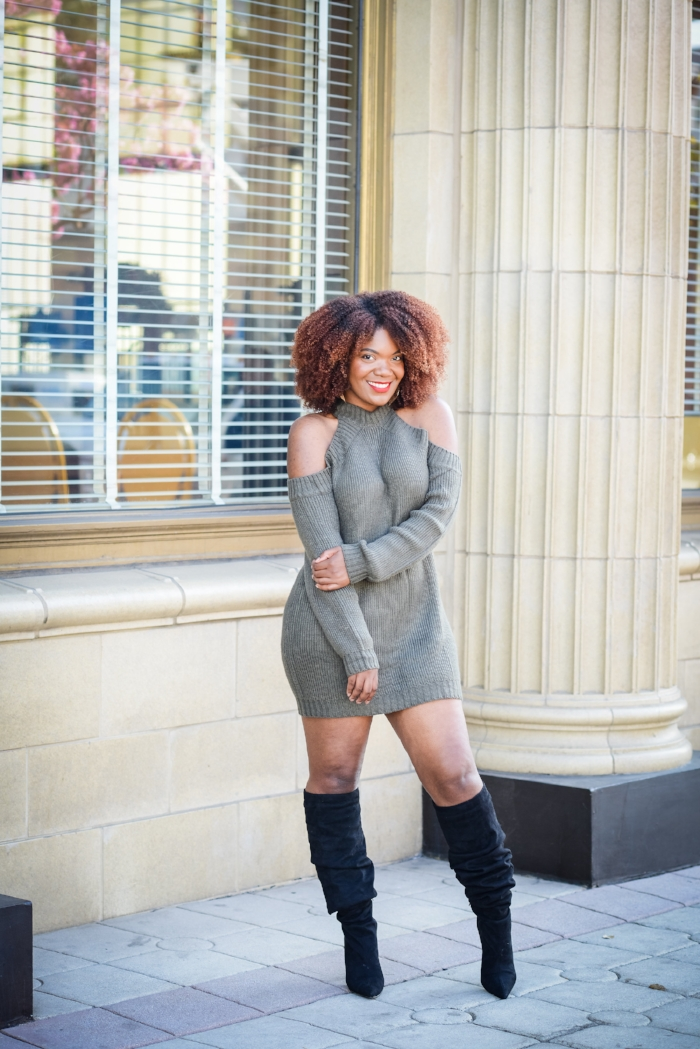 How To Wear A Sweater Dress This Winter