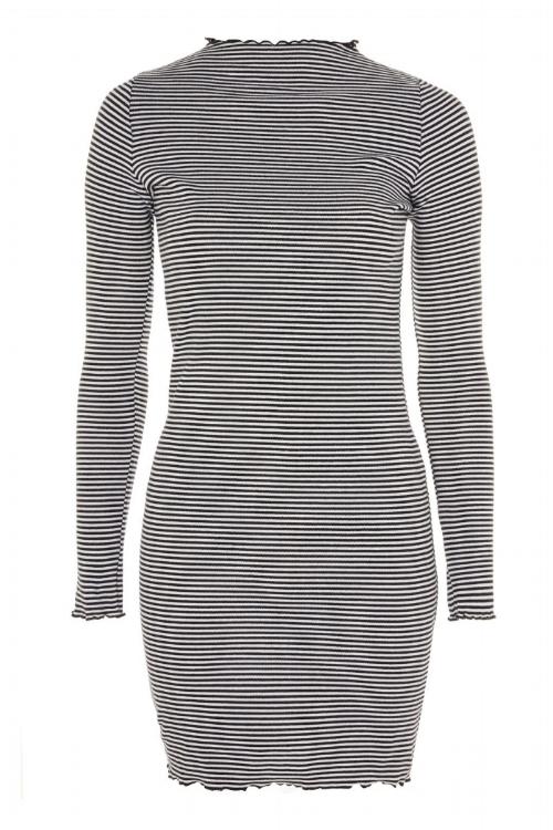Stripe Frill Edge Bodycon Dress