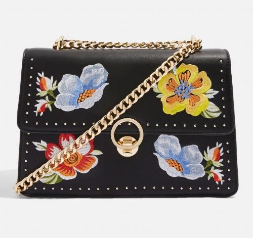 Scilla Embroidered Shoulder Bag