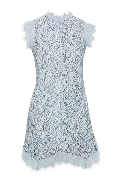 Lace Mini Flare Dress