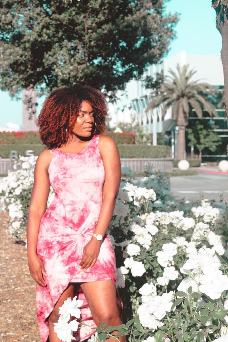 Fashion Nova High-Low Tie Dye Dress