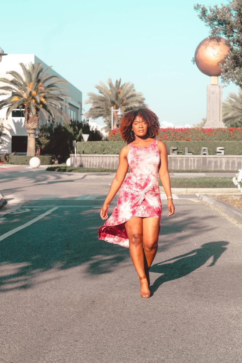 Fashion Nova Summer High-Low Tie Dye Dress