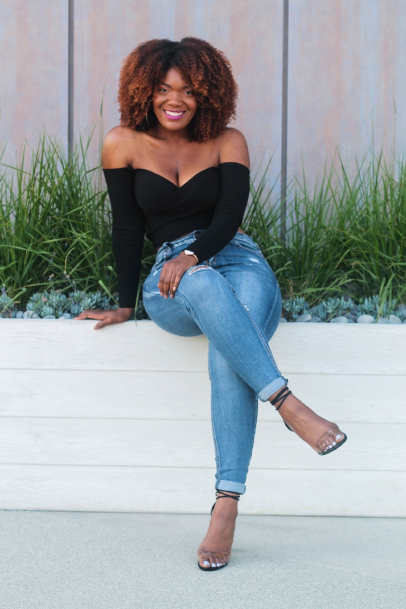 Fashion Nova Jeans And Off Shoulder Top