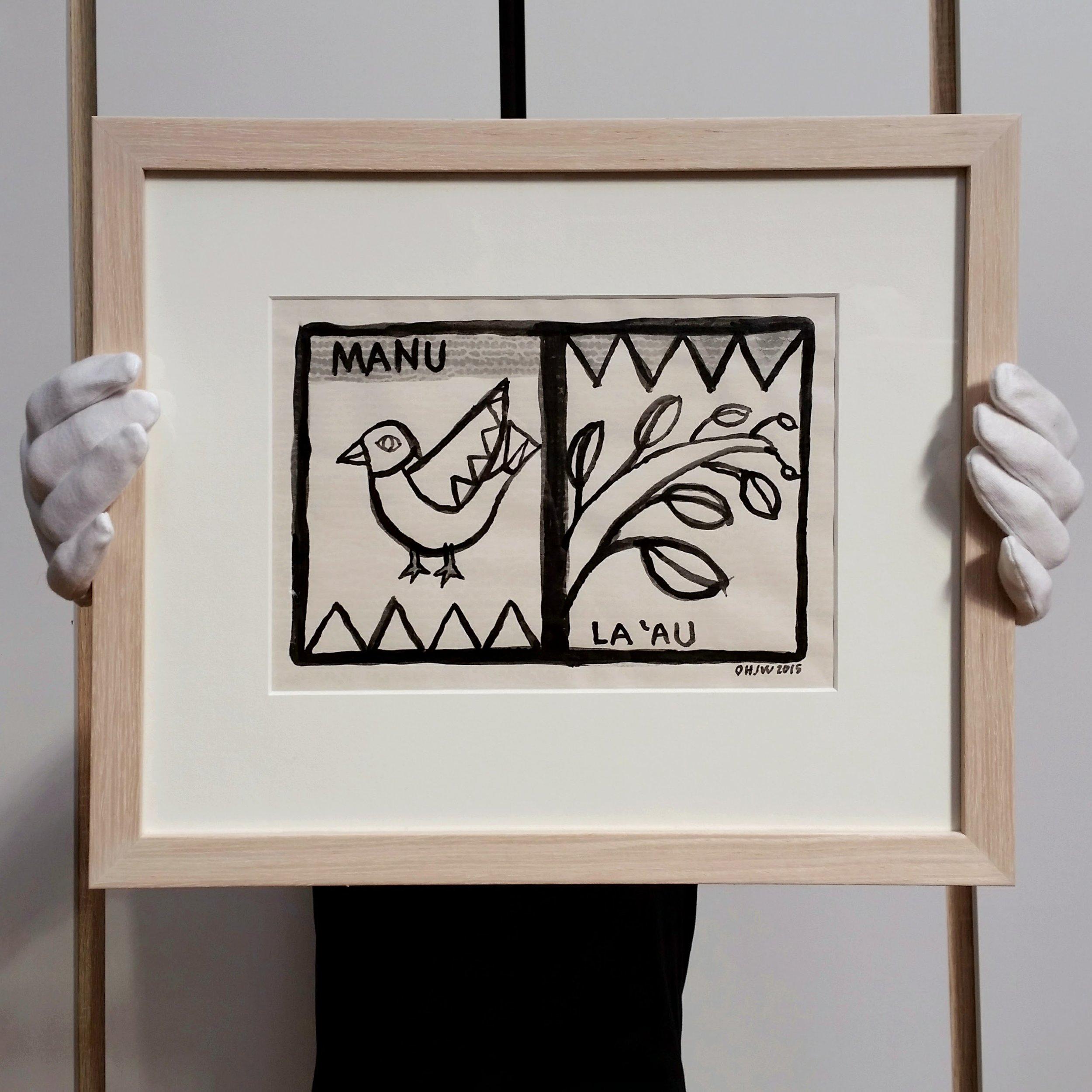 Manu La'au drawing by Olga Hedwig Janice Wilson