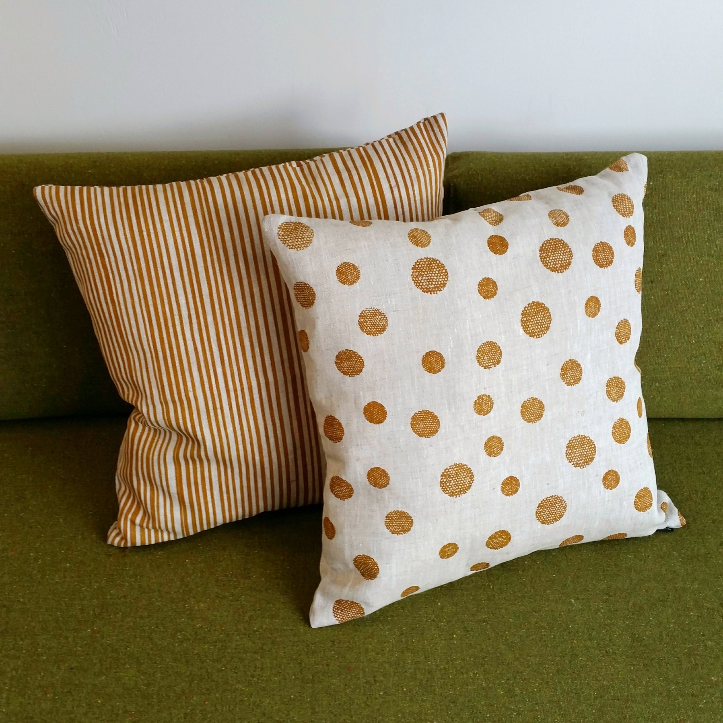 Smitten Design - Hand screen-printed linen cushion covers
