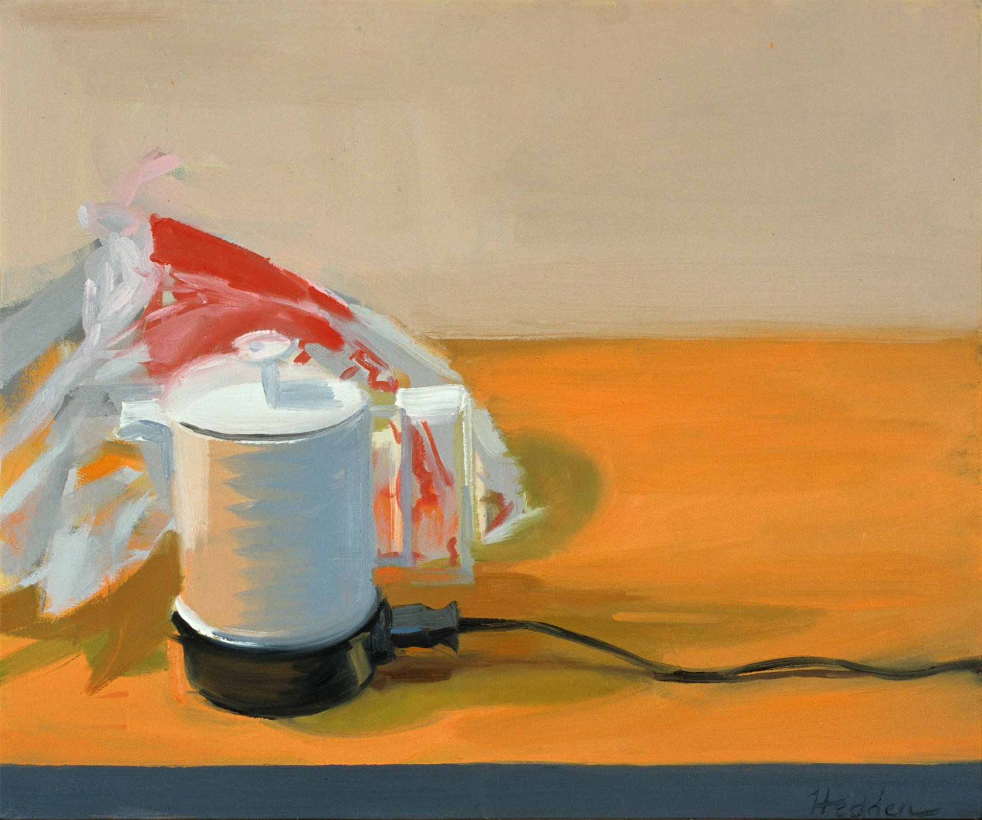 Teapot,  oil on canvas