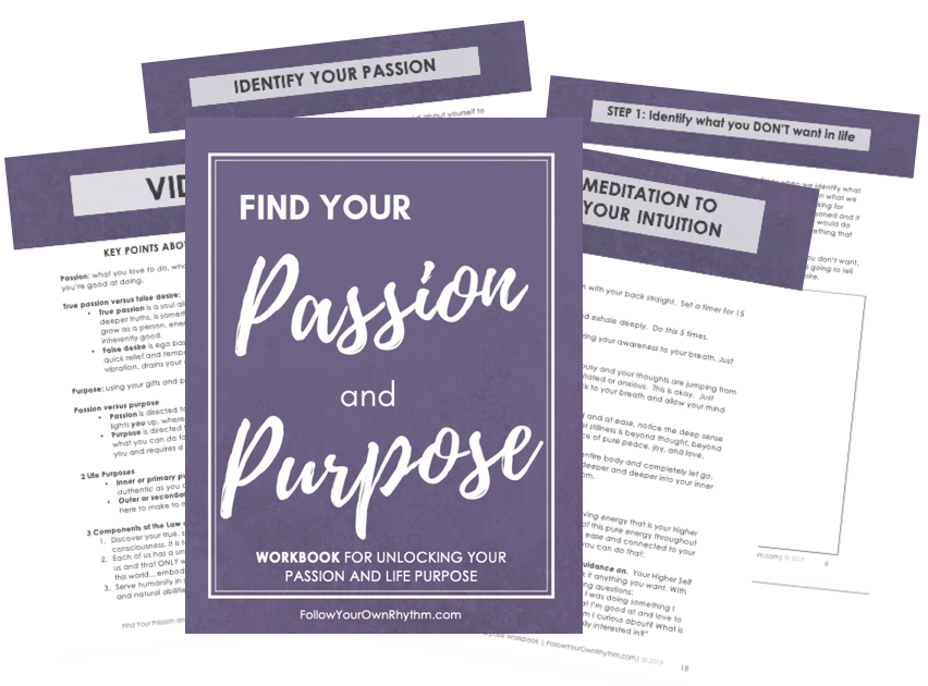 find your passion and purpose workbook