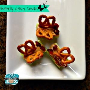 Butterfly Celery and Pretzel Snacks