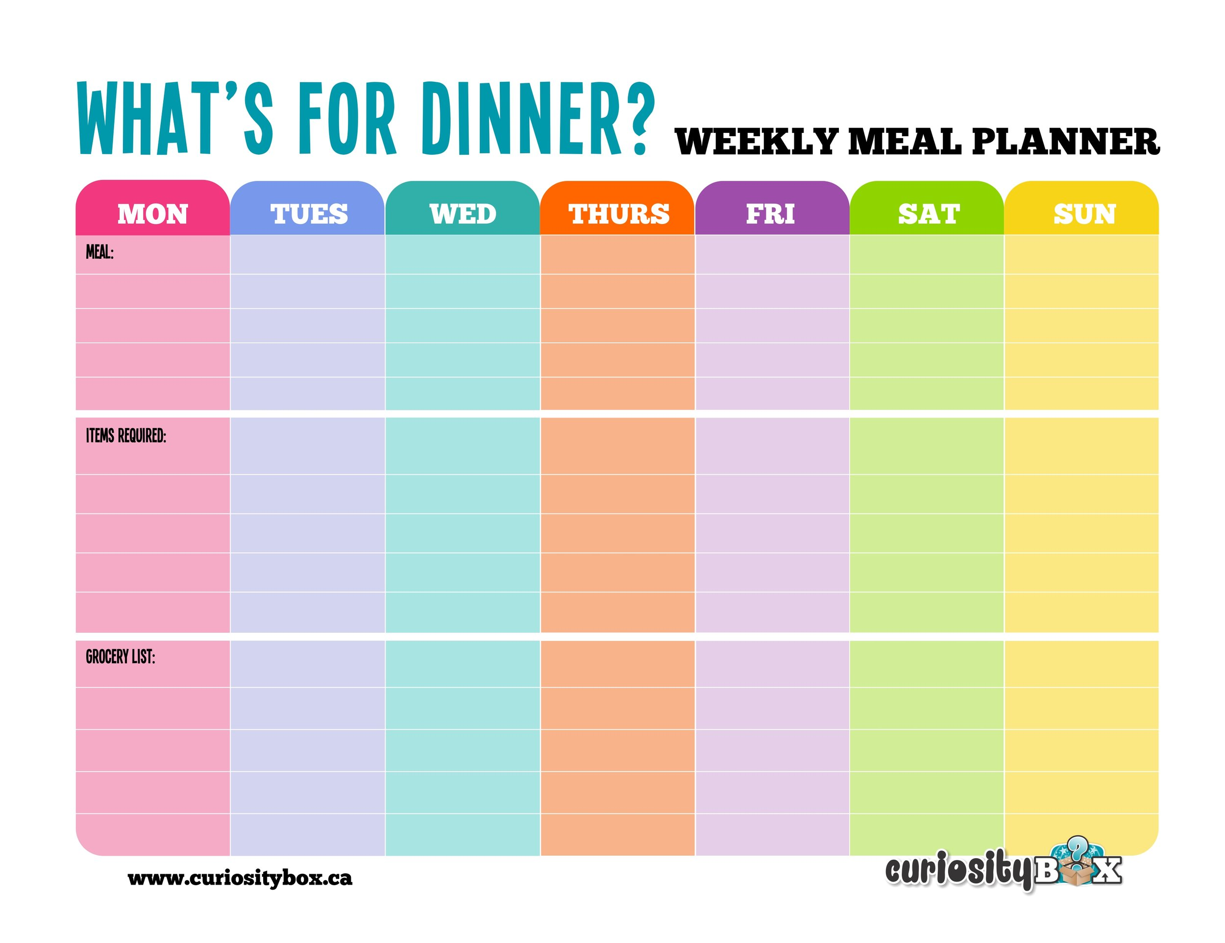 Meal Planner Lines