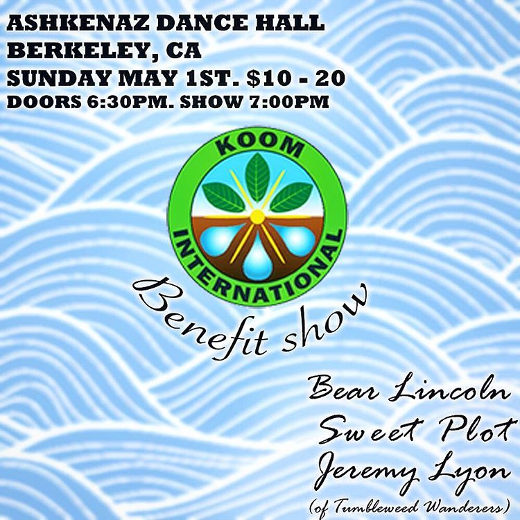 Real talk. Our next show is a benefit bonanza on May 1st at the Ashkenaz in Berkeley. Is it the party of the millennium, or just the party of the century? You decide. (at Ashkenaz)