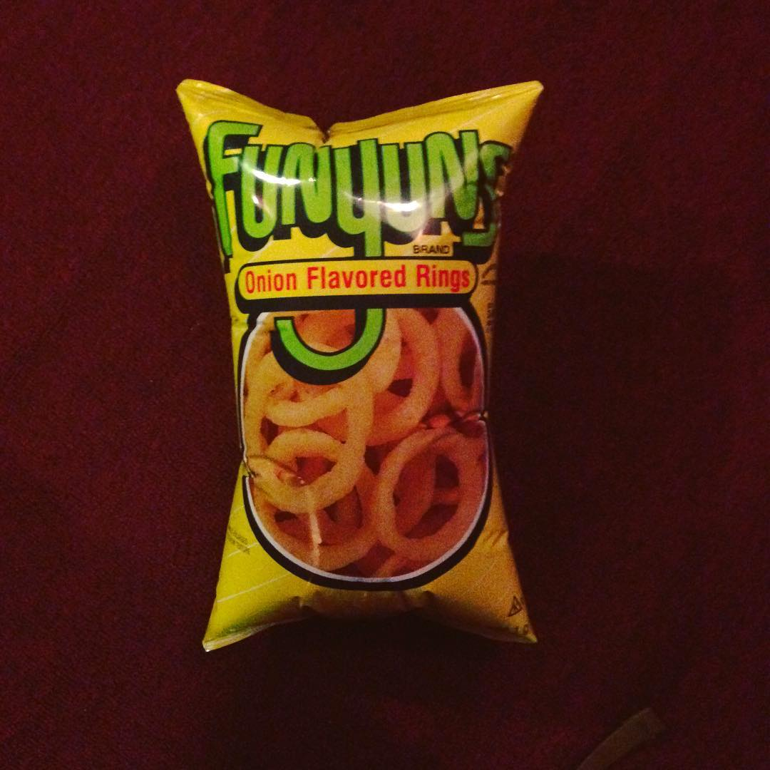 Like this bag of Funyuns at high altitude, our show next week is primed to explode! With breathtaking, lively, and oversaturated enjoyment that is. (at Brick & Mortar Music Hall)