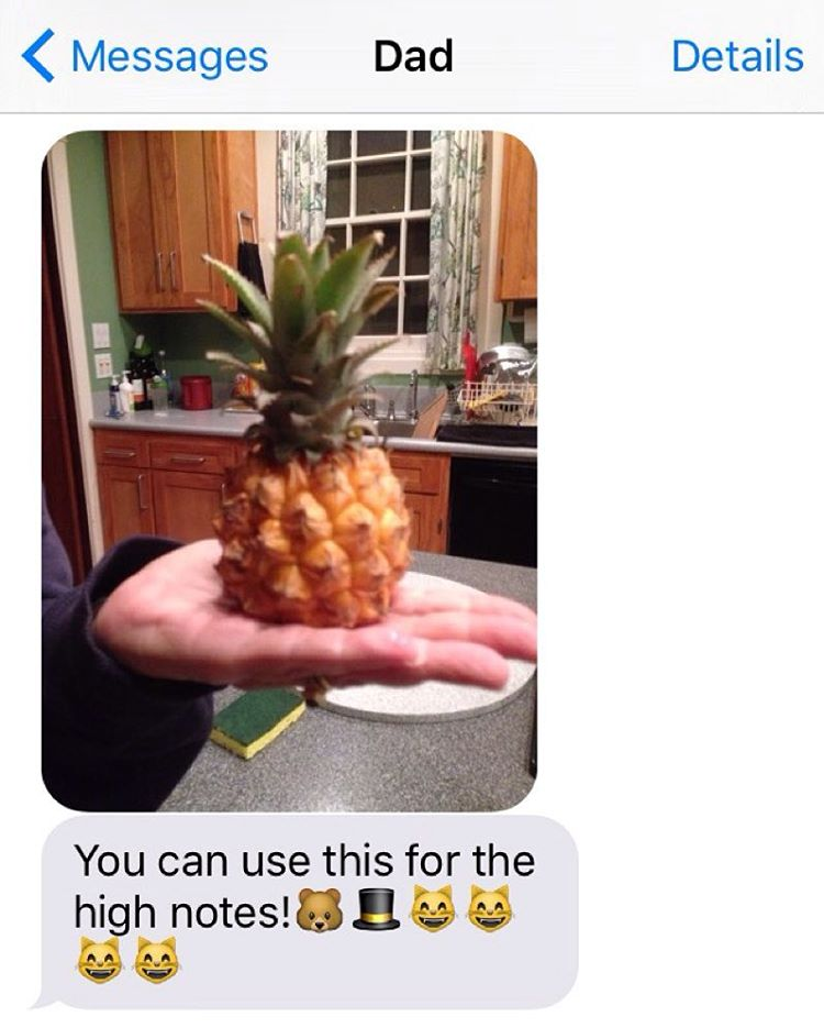 My dad (who is rad) certainly knows his lad. Got an extra special pineapple for you at the Ashkenaz this evening. It's an early show, doors at 6:30 and we go on at 8:00! -ben (at Ashkenaz)