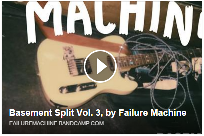 """Our buddies  Failure Machine  done it again, check out their recent cover of The Weeknd 's """"I Can't Feel My Face"""" and a baaad new original. Check out these garage/soul buttercups –>   https://failuremachine.bandcamp.com/album/basement-split-vol-3"""