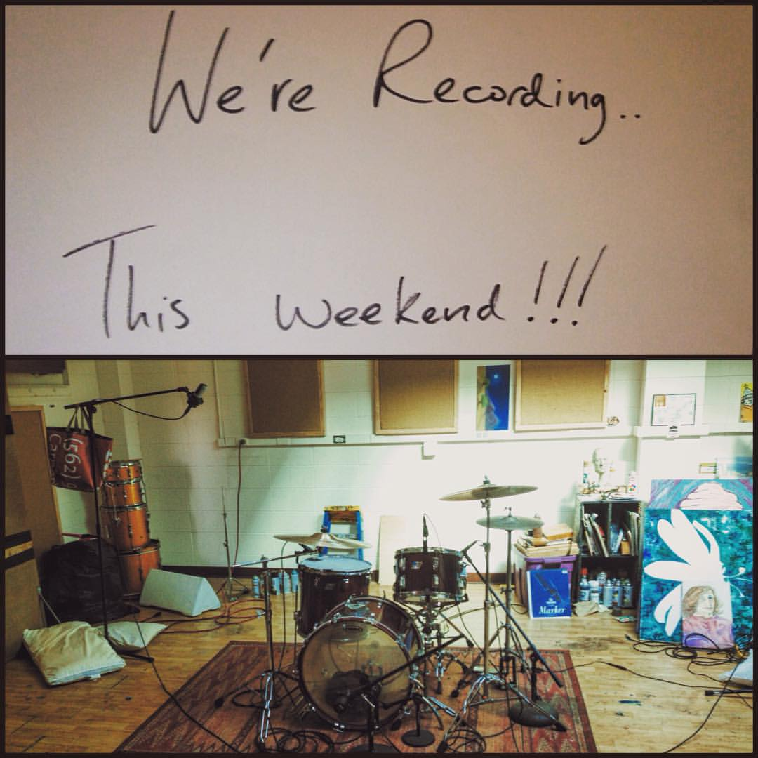 We're recording.. This weekend!!! w/ @___nay_b and @ajmckinleymusic
