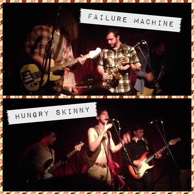 A helluva one-two punch of a show by @failuremachine and @hungryskinny at Amnesia last night. Thanks boyz for bringing your A-game. And if you don't know these bands, check 'em out. They'll make your head asplode.