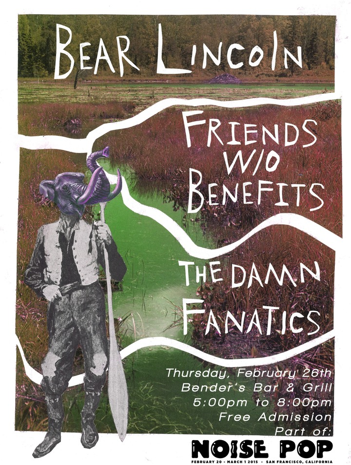 Just Announced! Bear Lincoln @ Noise Pop Happy Hour Presented by Balanced Breakfast in San Francisco, CA - February 26th