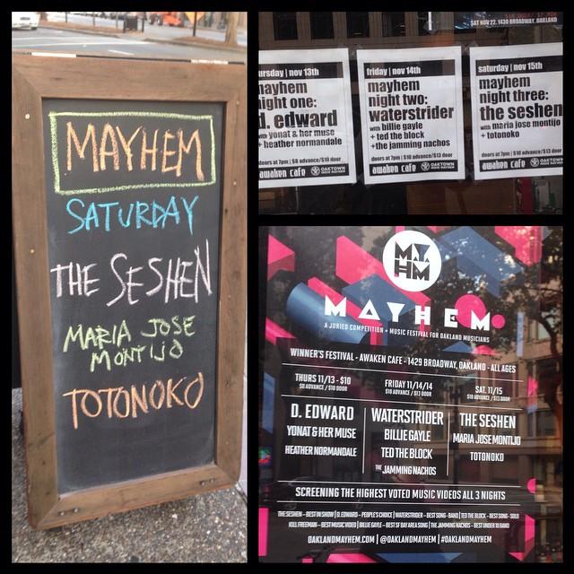 Mayhem. It's what's for dinner. #oaklandmayhem (at Awaken Cafe)