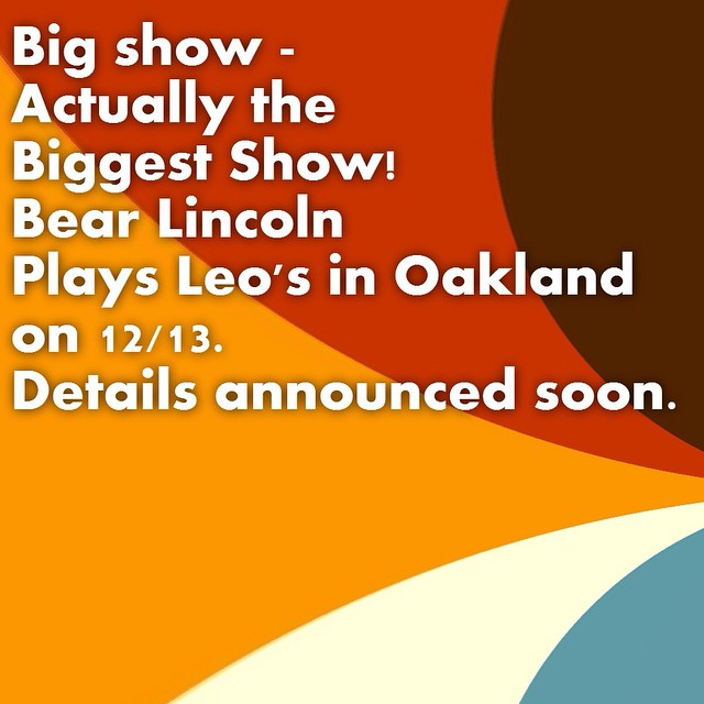 Save the date! 12/13 in Oakland.