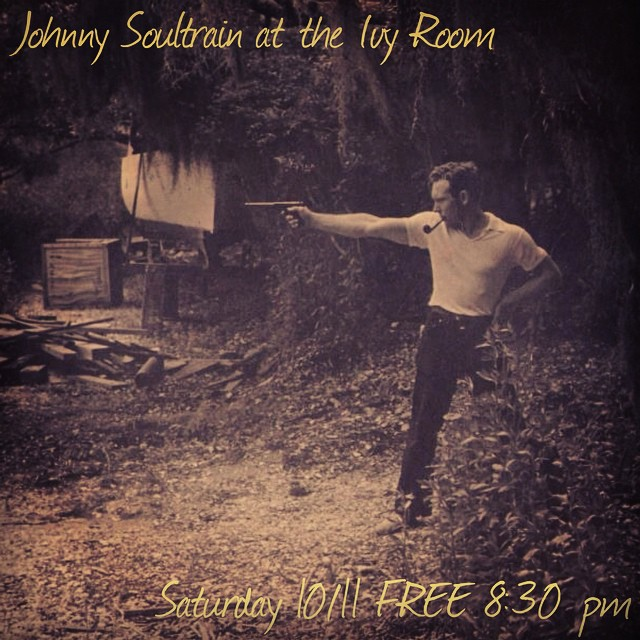 Our buddies Johnny Soultrain make their triumphant return this Saturday night at the Ivy Room in Albany. It's gonna be a great show; check out their music if you hain't heard 'em yet: search Soundcloud for Johnny Soultrain.