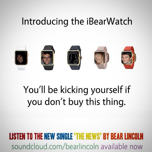 On the heels of today's big announcement, we bring you the iBearWatch!