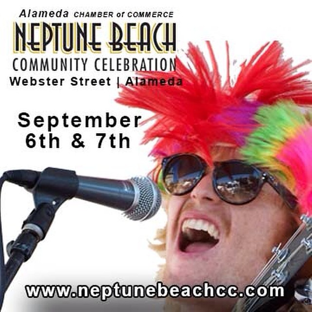 Alameda! We're coming back on Sunday to play the Neptune Beach Fest from 2:00 to 3:30pm. And Oakland, at 7:30 tonight we Stork!