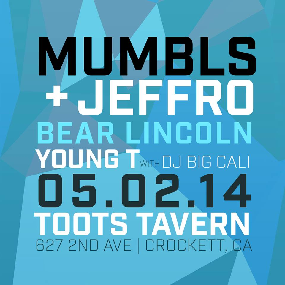 Comin' up this Friday. Crockett, it's gonna be a time. $5 at the door, 9pm.