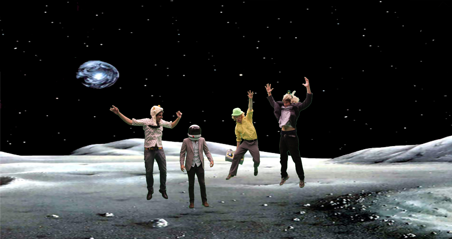 #tbt that time we went to the moon and Derek remembered to bring his helmet