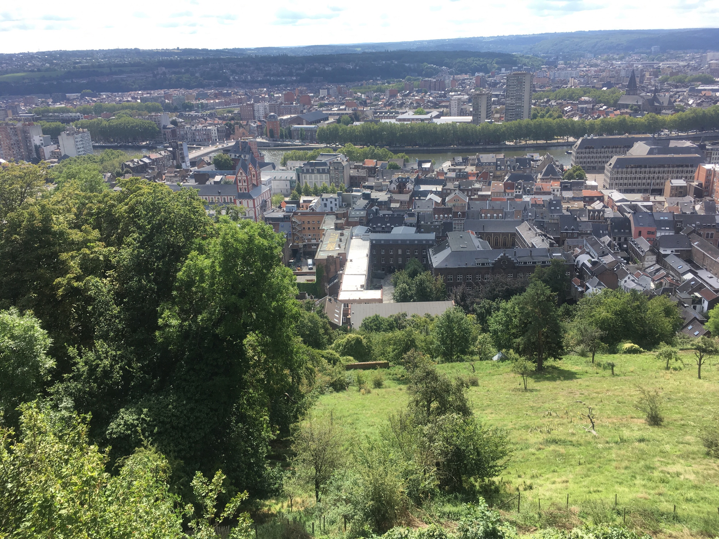 The view from the hill in Liège