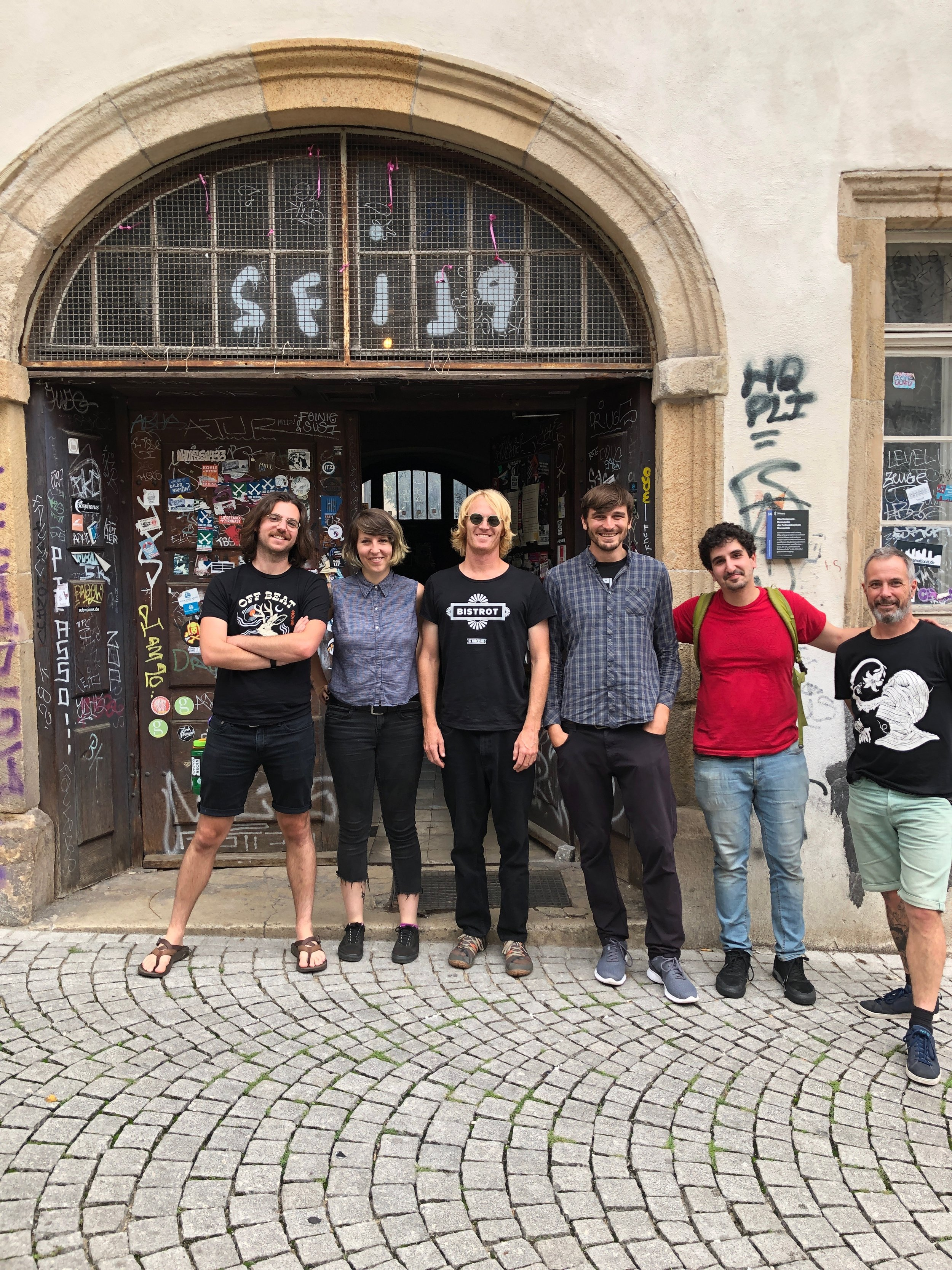 The band with Kurt outside of Hausbar in Tübingen
