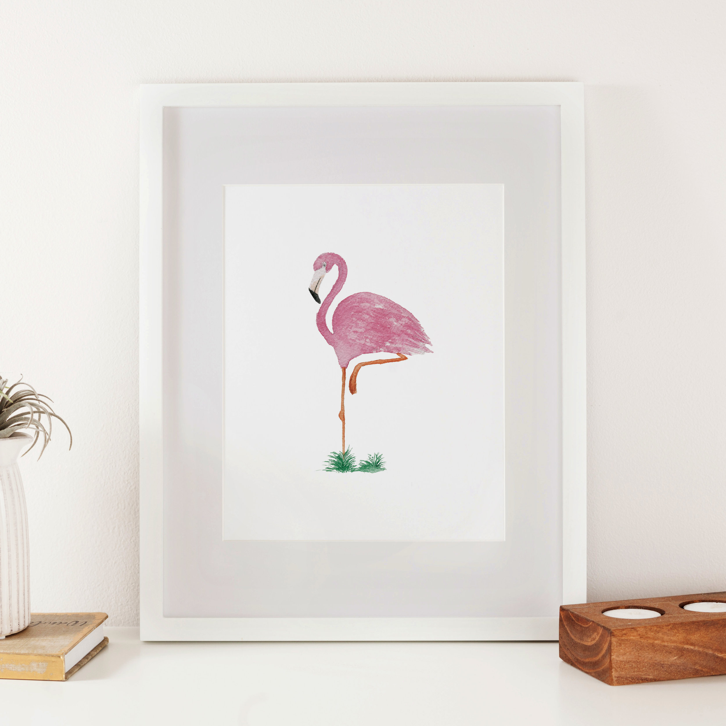 Flamingo Watercolor Print - Starting at $18.00
