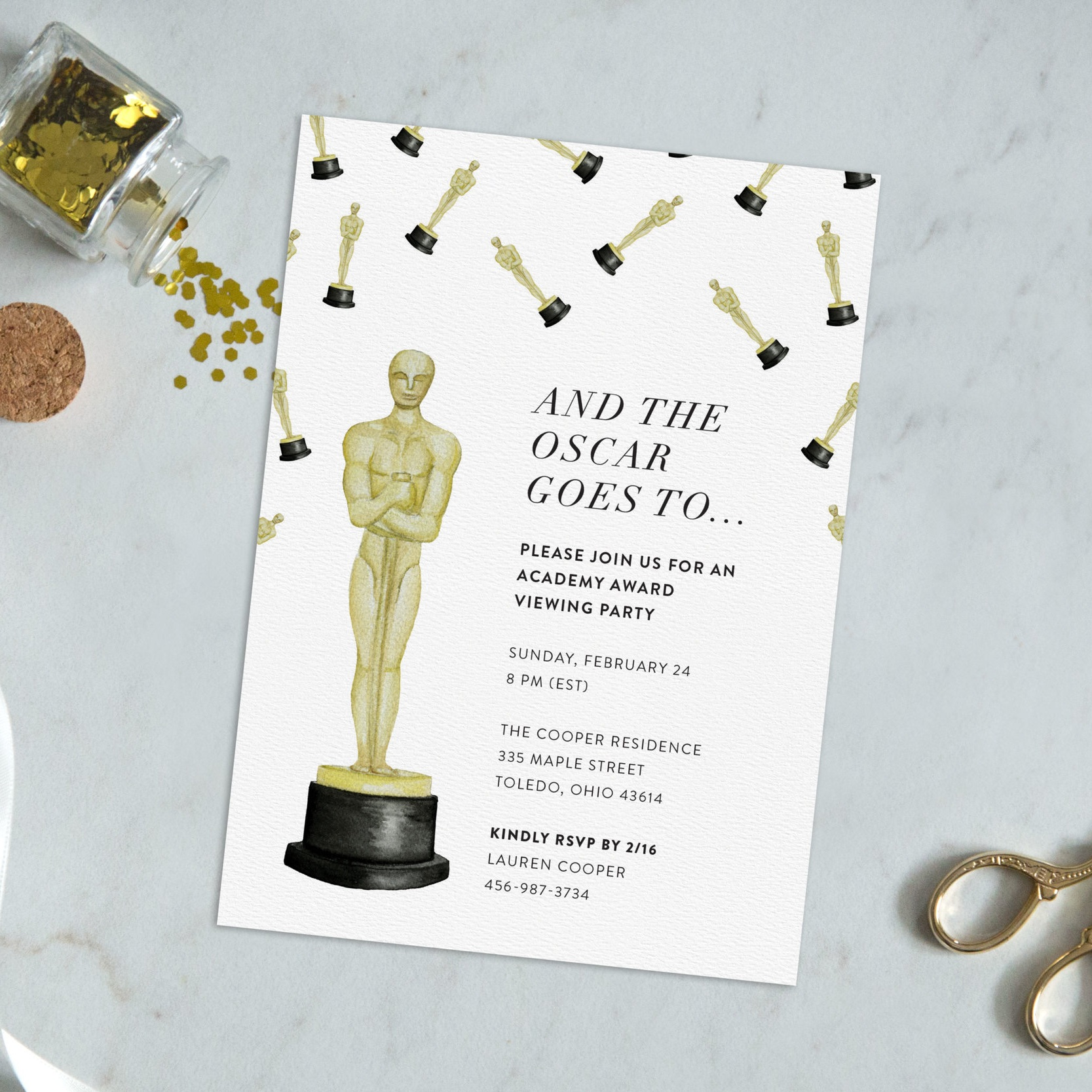Oscar Party Invitation - Starting at $12.00
