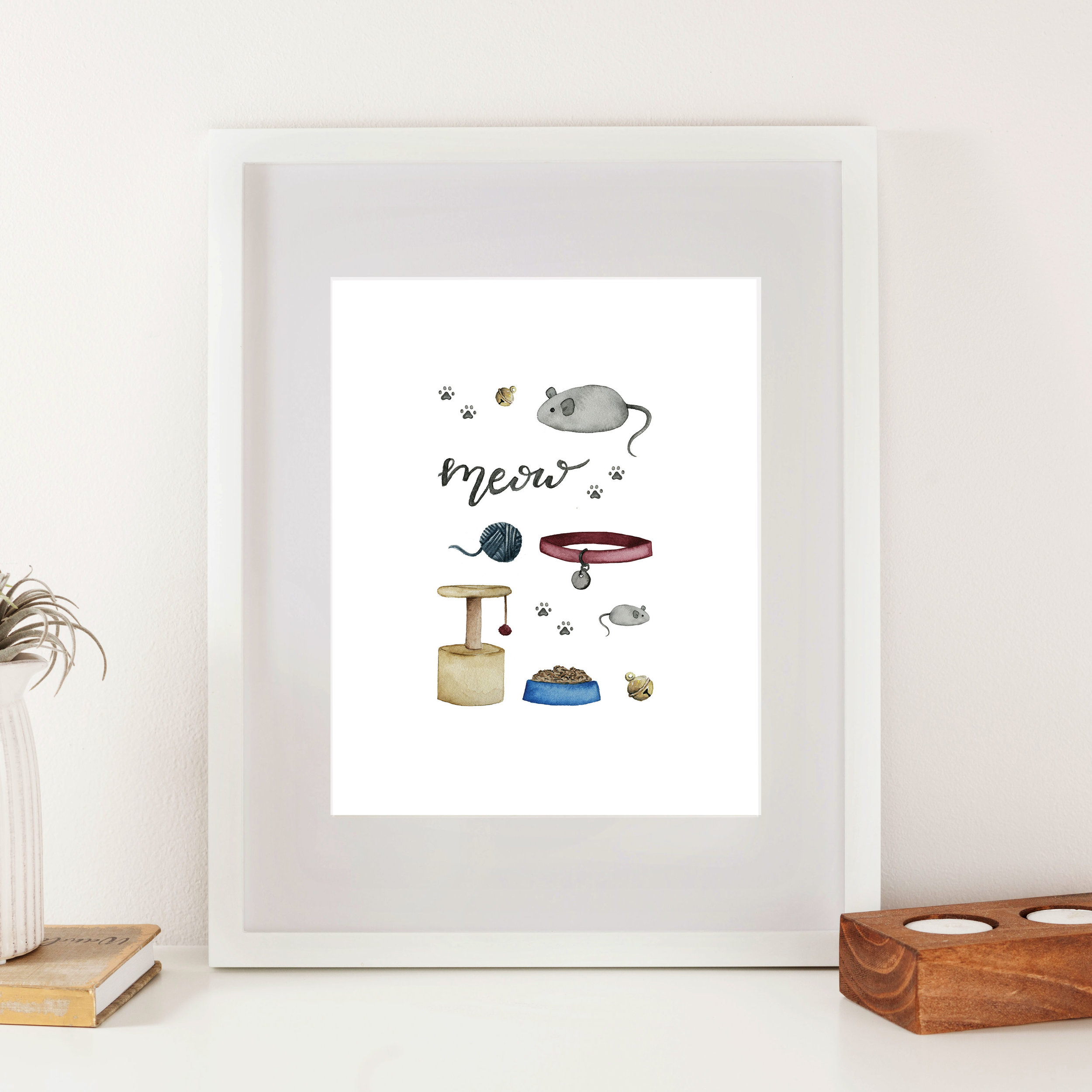 Cat Accessories Print - Starting at $24.00