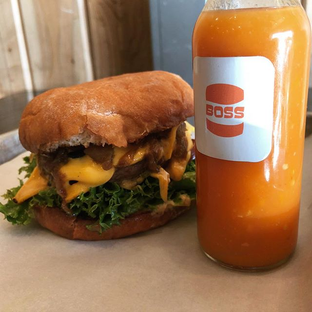 The BOSS of all bosses with the sauce of all sauces! Come have a burger with the best! Happy Friday!! 🍔🍟, and 🍗🌭🥗🍦🍪🍺🍷, too! #happyfriday