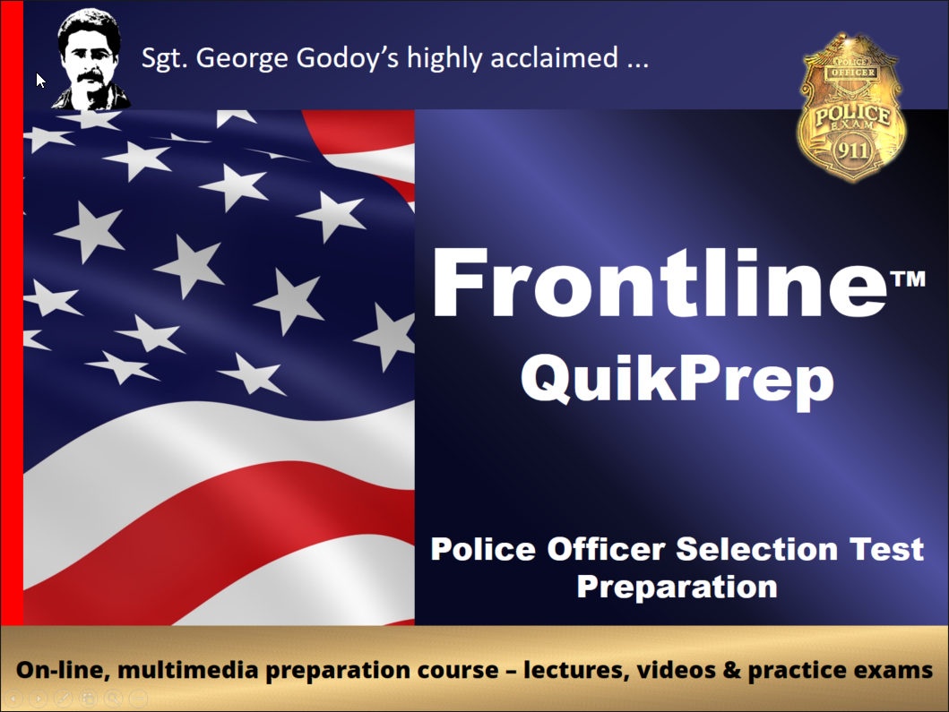How to Prepare for the El Paso Police Exam - get Frontline QuikPrep