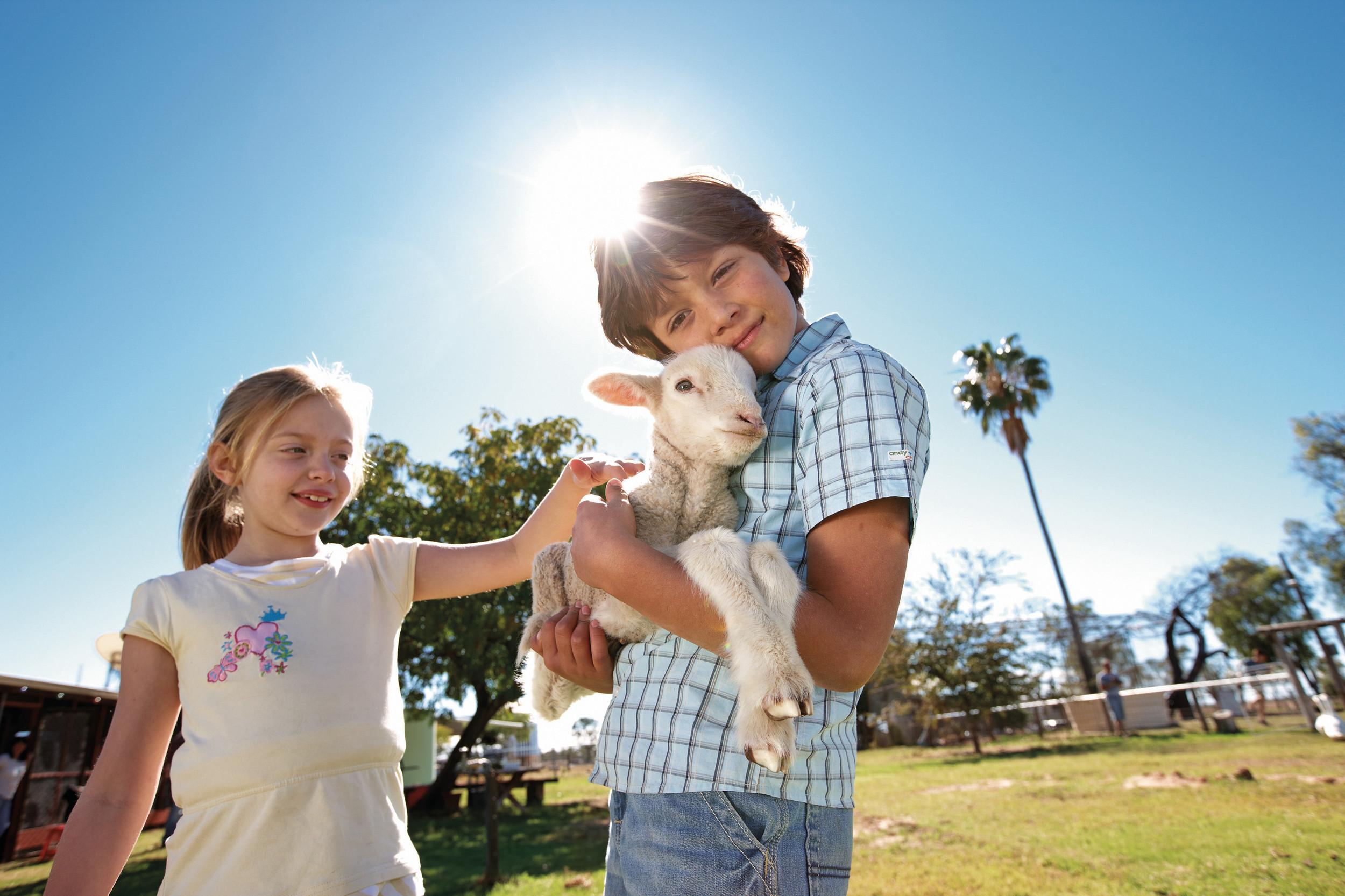 Cunnamulla - Kids and Lamb.jpg