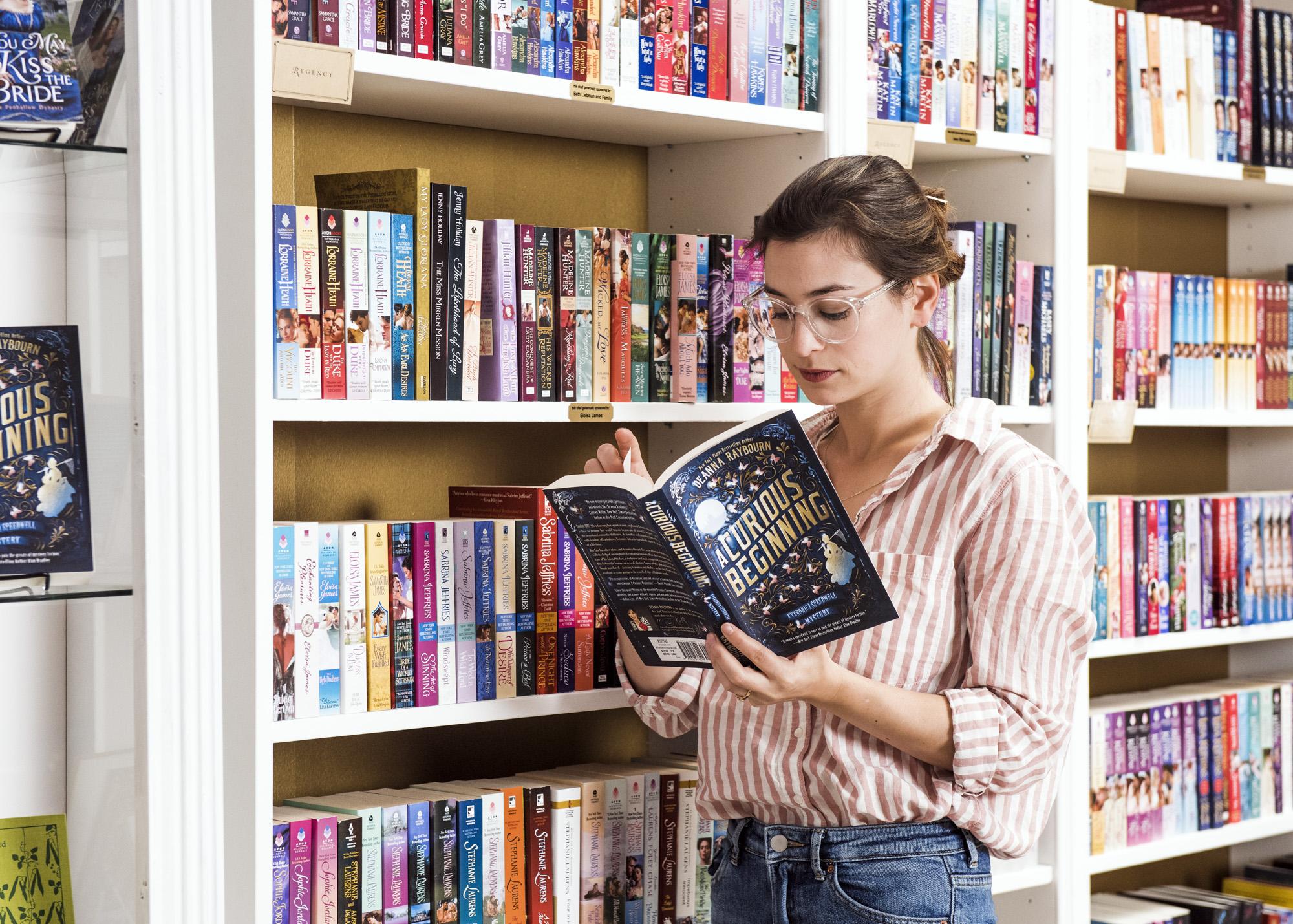 Bea reading  A Curious Beginning