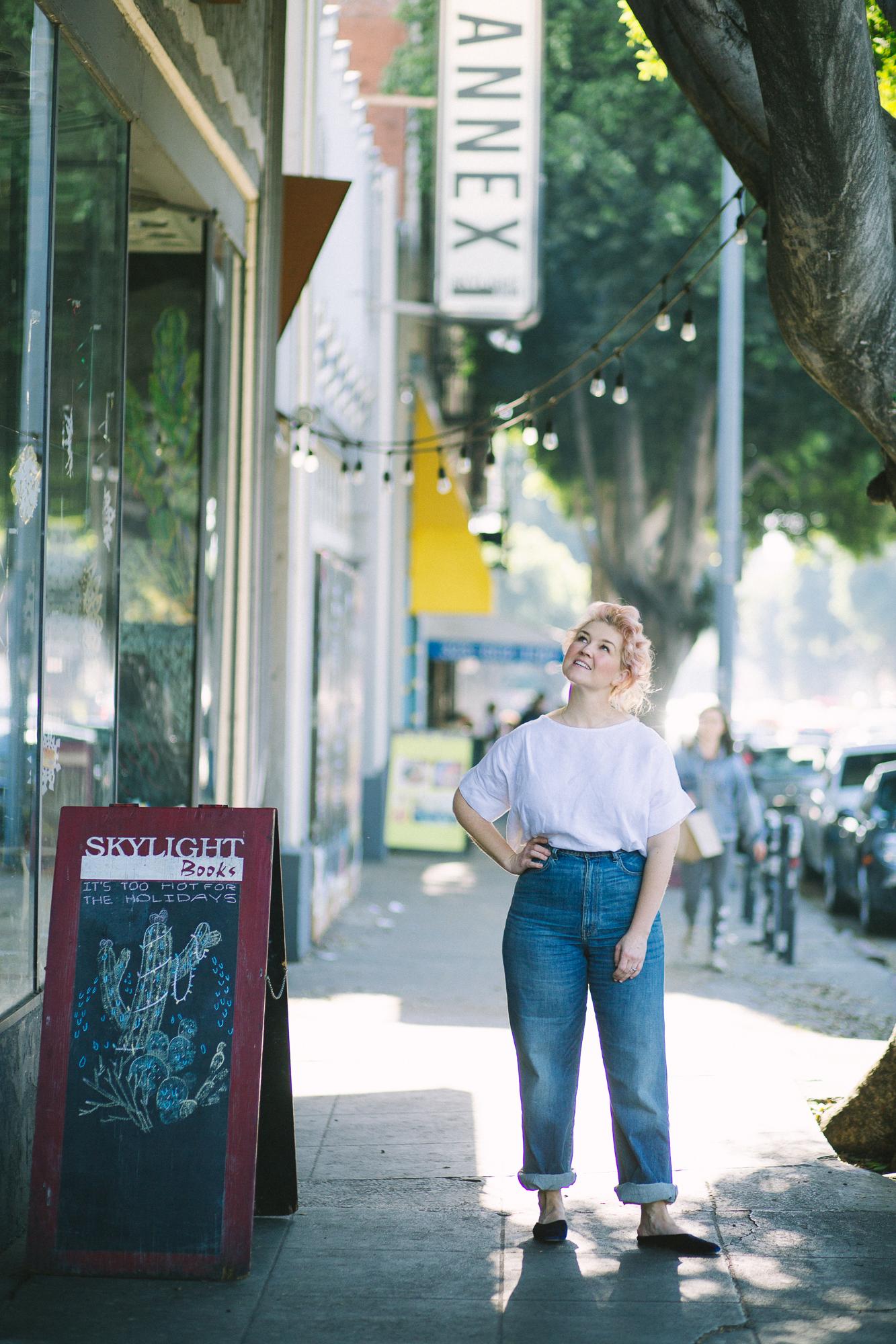 Jeni outside of  Skylight Books  in Los Feliz